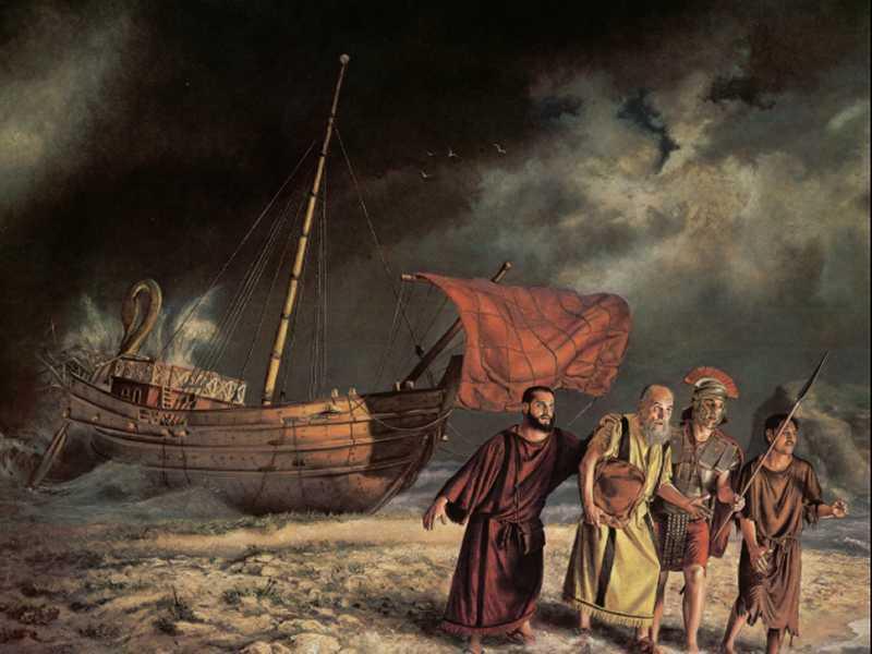 (texte en coréen, Saint Paul a souffert ... Je ne comprends pas, je dirais le naufrage à Malte) dans images sacrée 2f66cfb832e617b1b39f14379cfa1ed4